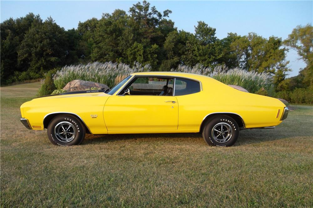 1970 CHEVROLET CHEVELLE SS 2 DOOR COUPE - Side Profile - 157743