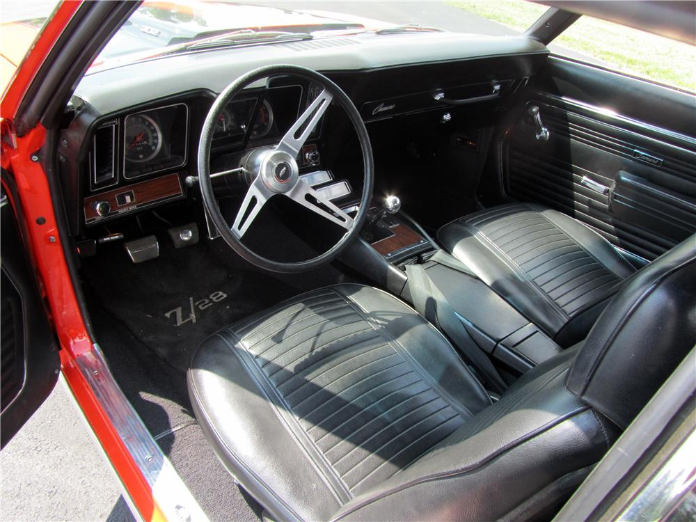 1969 CHEVROLET CAMARO Z/28 2 DOOR COUPE - Interior - 157752