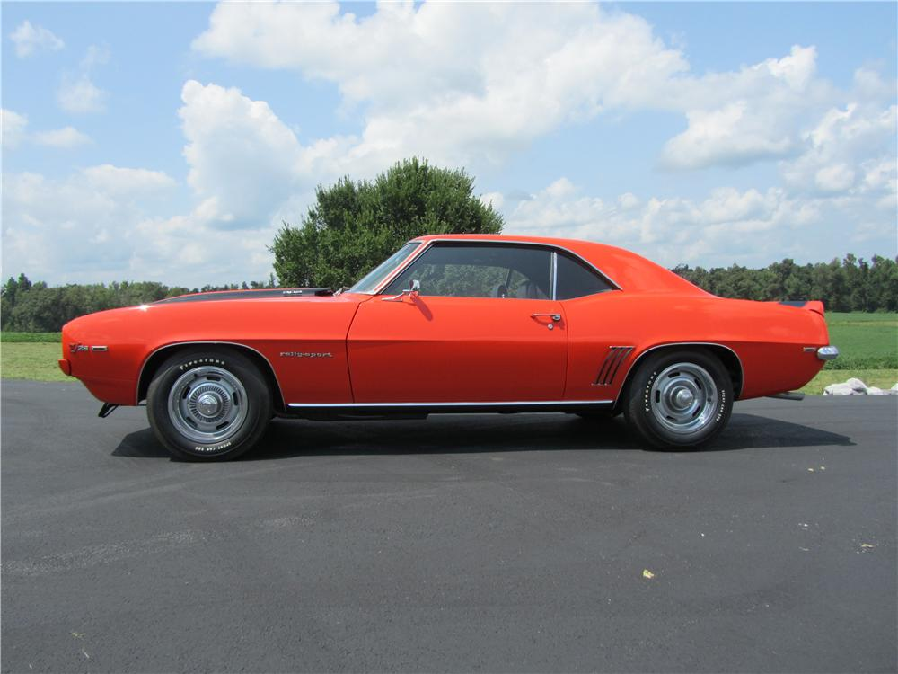 1969 CHEVROLET CAMARO Z/28 2 DOOR COUPE - Side Profile - 157752
