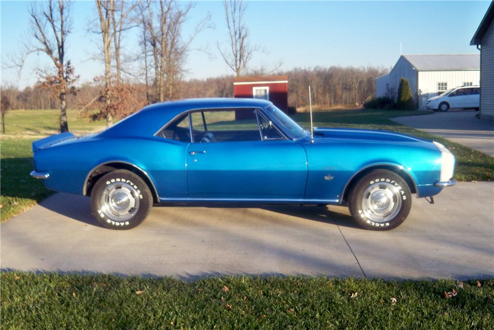 1967 CHEVROLET CAMARO 2 DOOR COUPE - Side Profile - 157755