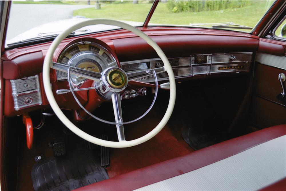 1950 CHRYSLER WINDSOR NEWPORT 2 DOOR HARDTOP - Interior - 157756