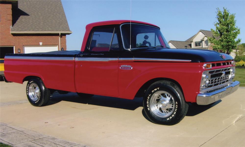 1965 FORD 100 CUSTOM PICKUP - Front 3/4 - 15776