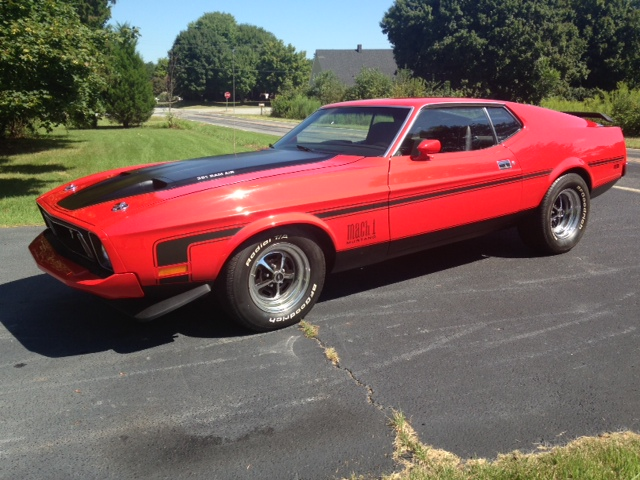 1973 FORD MUSTANG MACH 1 FASTBACK - Side Profile - 157770