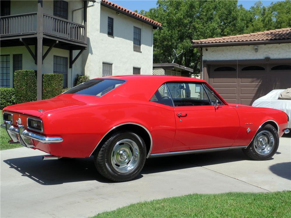 1967 CHEVROLET CAMARO 2 DOOR HARDTOP - Rear 3/4 - 157772