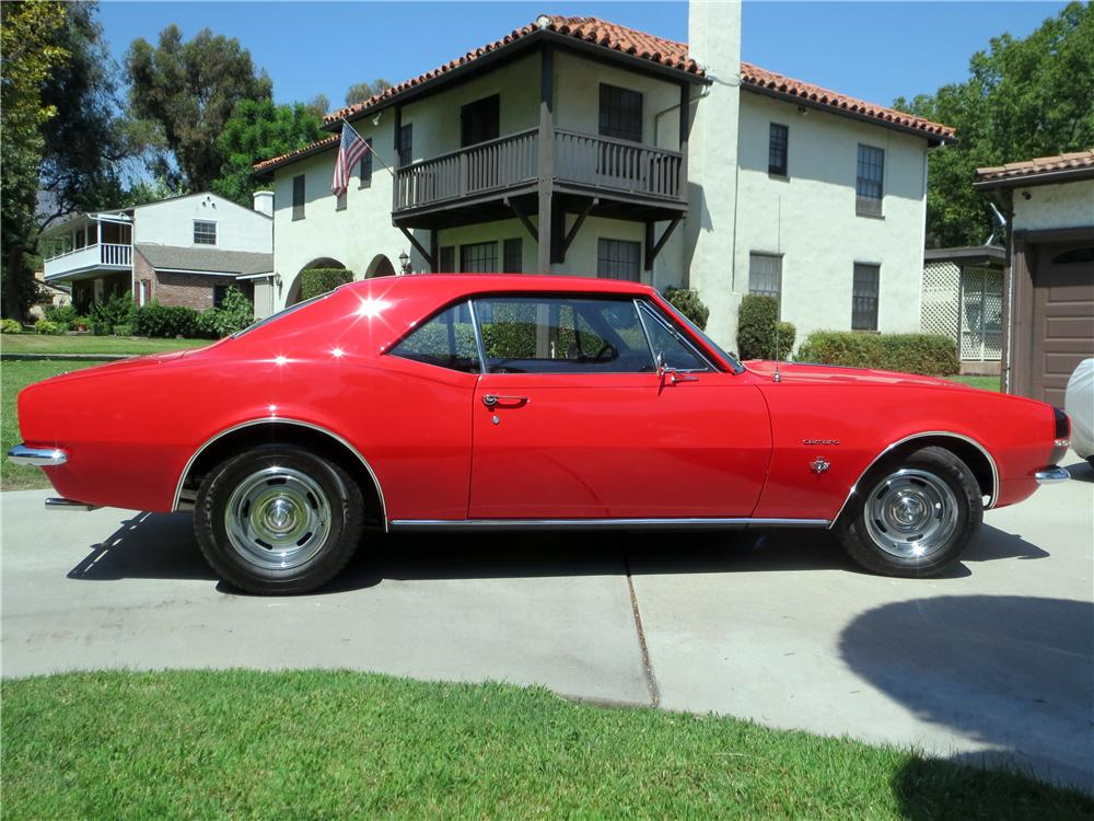 1967 CHEVROLET CAMARO 2 DOOR HARDTOP - Side Profile - 157772
