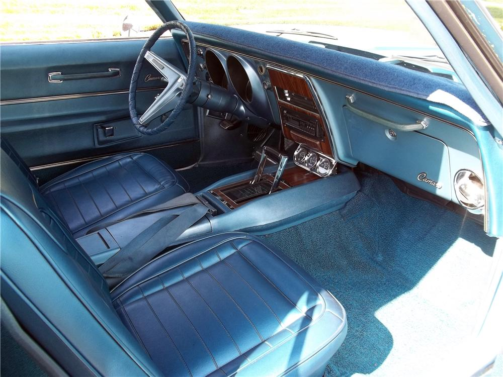 1968 CHEVROLET CAMARO 2 DOOR HARDTOP - Interior - 157773