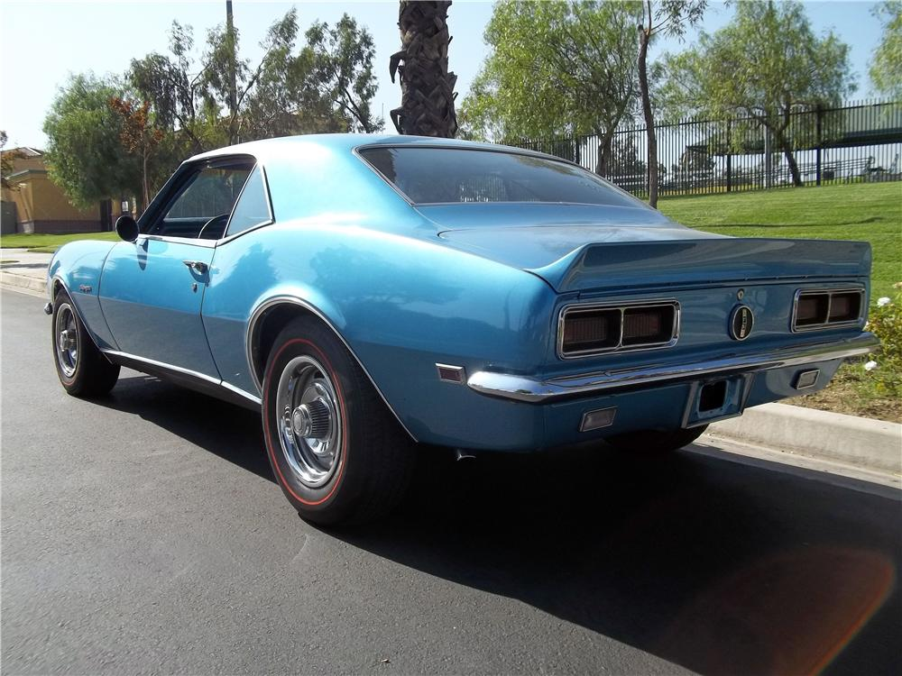 1968 CHEVROLET CAMARO 2 DOOR HARDTOP - Rear 3/4 - 157773