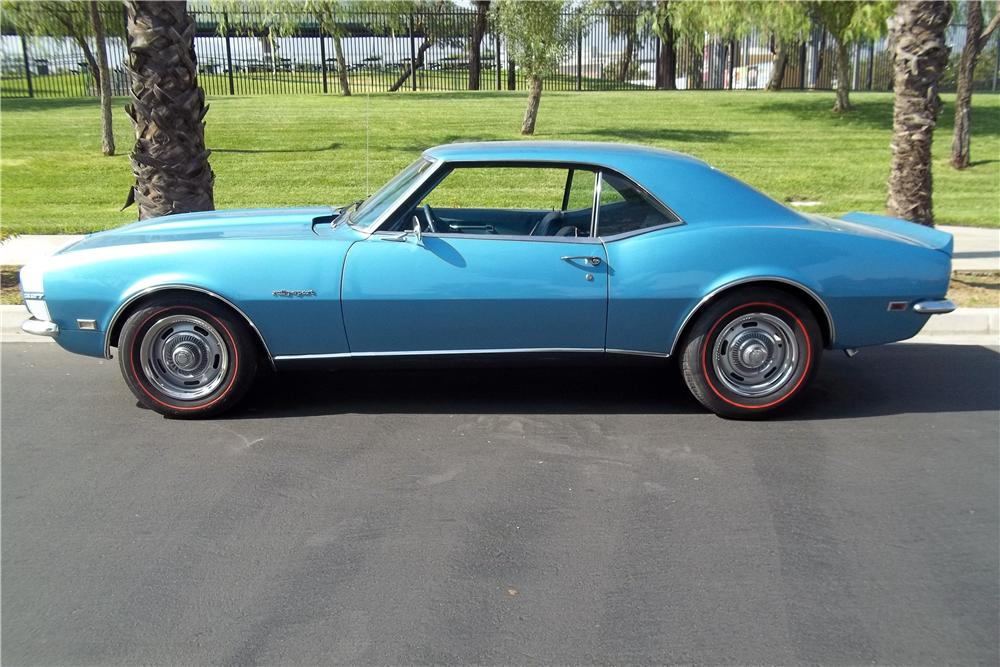 1968 CHEVROLET CAMARO 2 DOOR HARDTOP - Side Profile - 157773