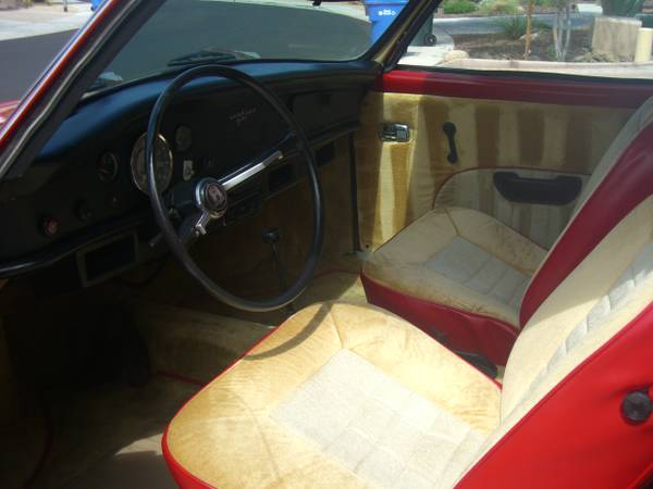 1969 VOLKSWAGEN KARMANN GHIA 2 DOOR COUPE - Interior - 157777