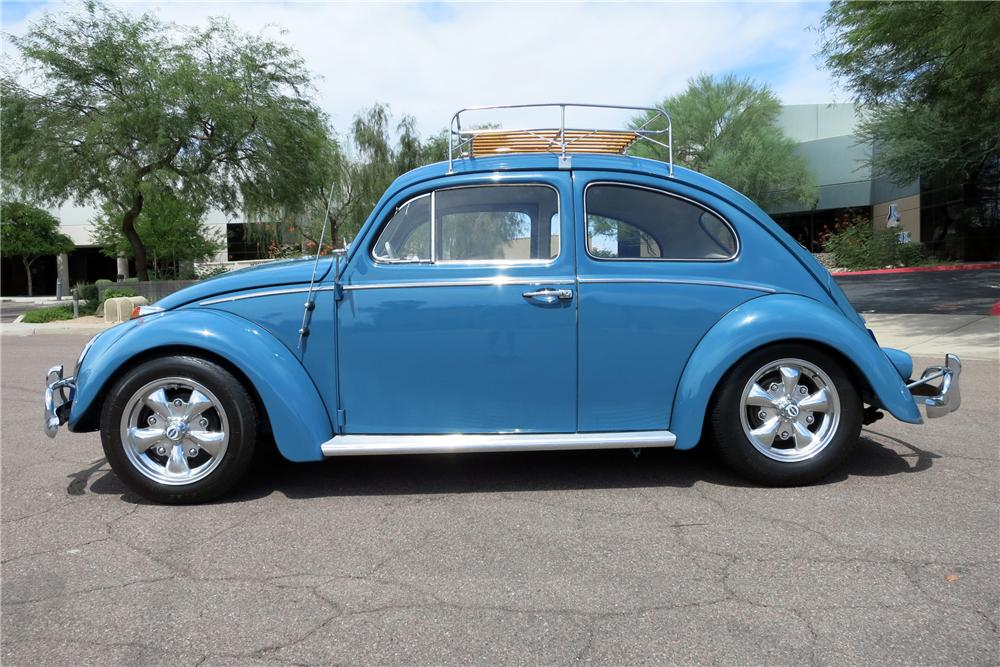 1961 VOLKSWAGEN BEETLE 2 DOOR SEDAN - Side Profile - 157780