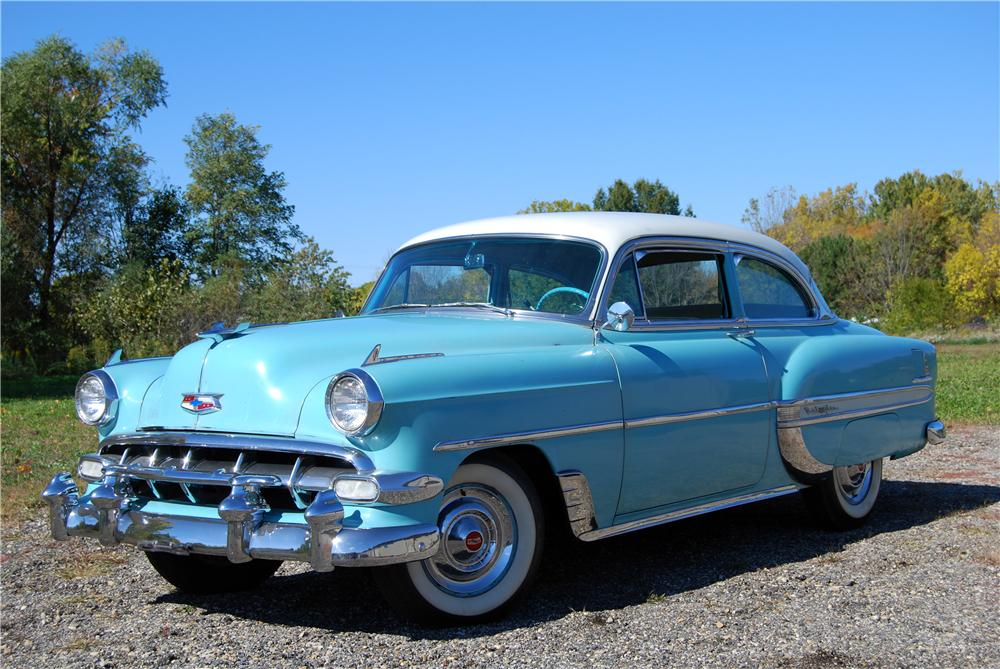 1954 CHEVROLET BEL AIR 2 DOOR SEDAN - Front 3/4 - 157790