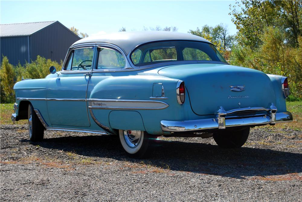 1954 CHEVROLET BEL AIR 2 DOOR SEDAN - Rear 3/4 - 157790