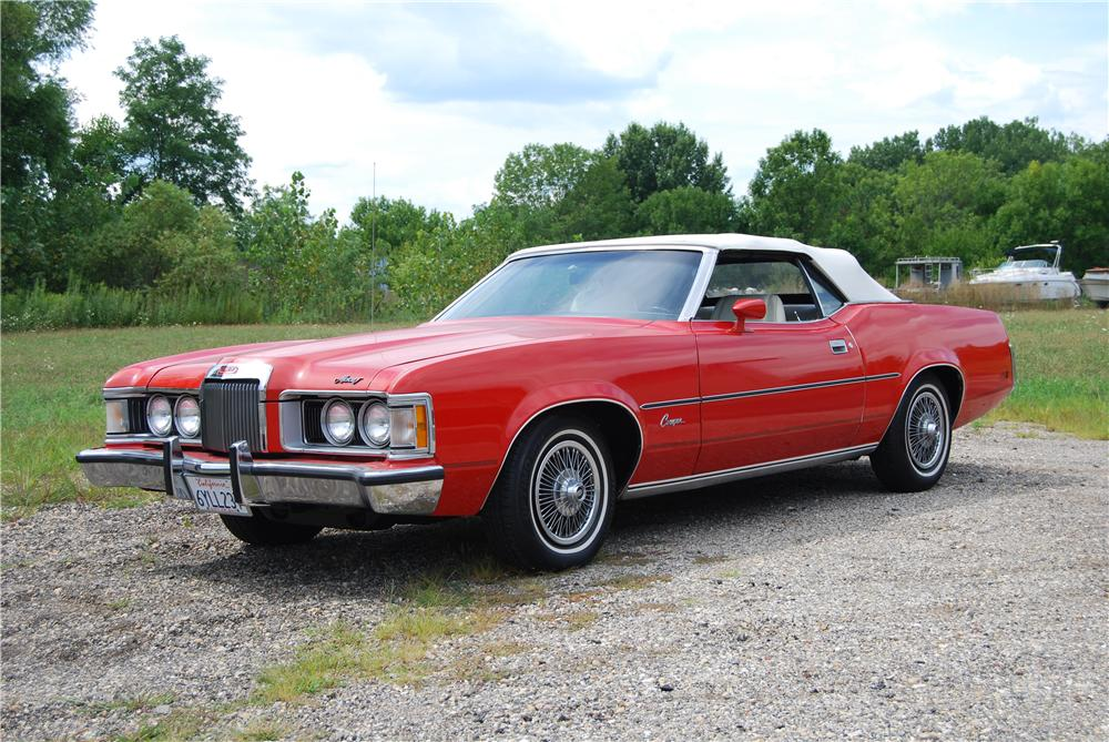 1973 MERCURY COUGAR CONVERTIBLE - Front 3/4 - 157791