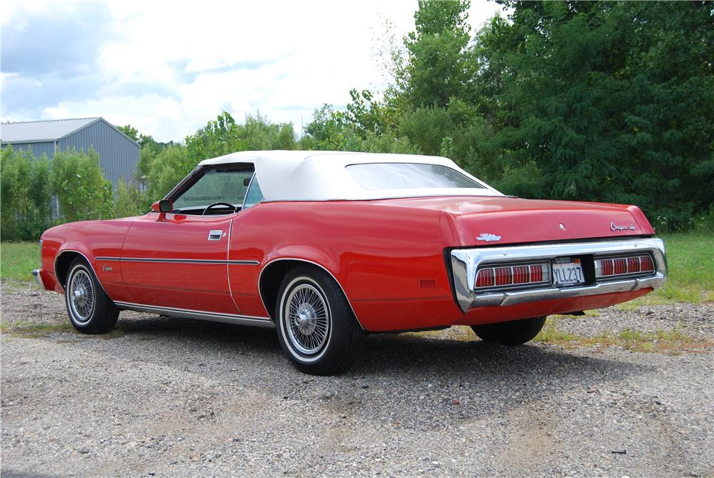 1973 MERCURY COUGAR CONVERTIBLE - Rear 3/4 - 157791