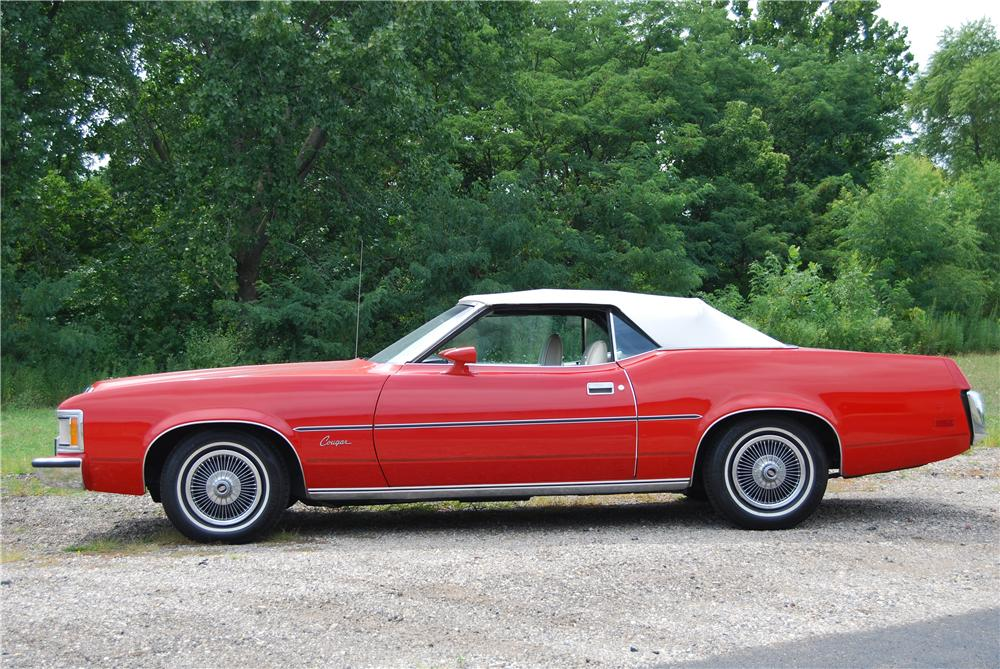 1973 MERCURY COUGAR CONVERTIBLE - Side Profile - 157791