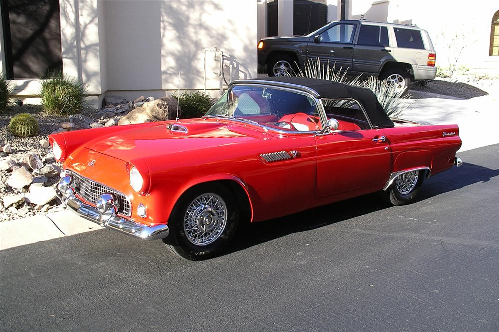 1955 FORD THUNDERBIRD CONVERTIBLE - Front 3/4 - 157802
