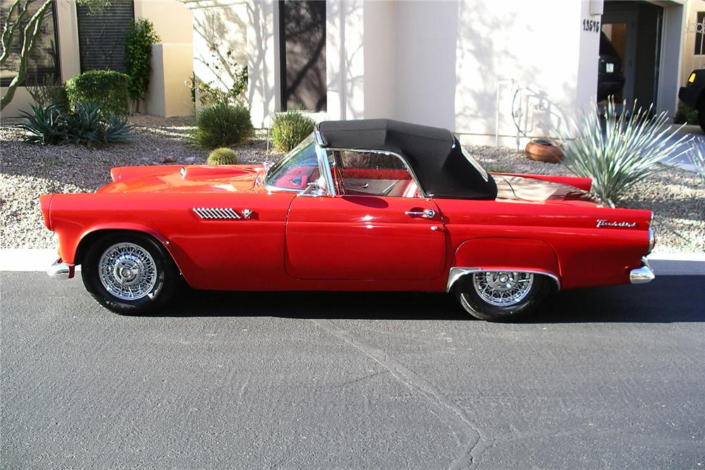 1955 FORD THUNDERBIRD CONVERTIBLE - Side Profile - 157802