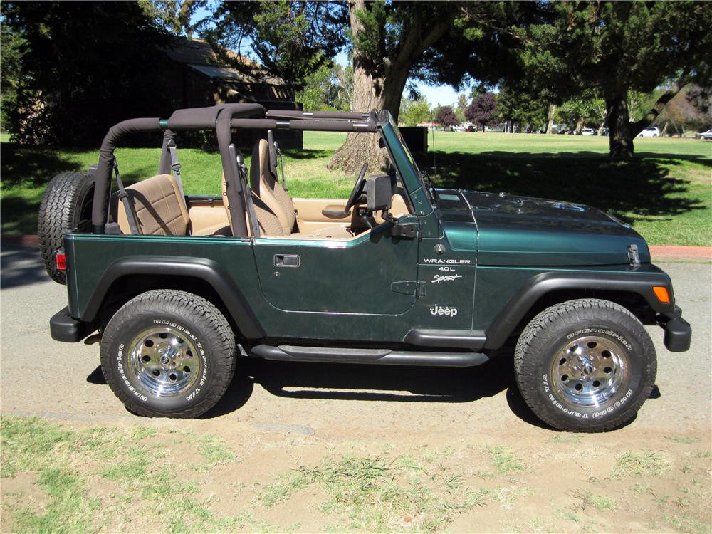 2000 JEEP WRANGLER SUV - Side Profile - 157807