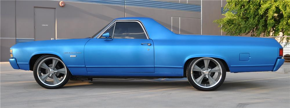 1971 CHEVROLET EL CAMINO CUSTOM PICKUP - Side Profile - 157808