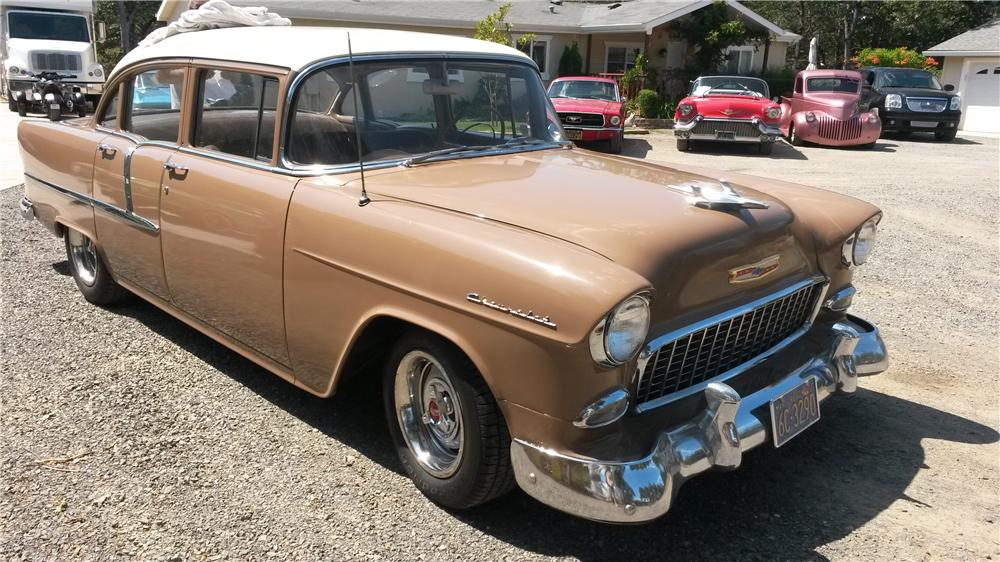 1955 CHEVROLET 210 4 DOOR SEDAN - Side Profile - 157819