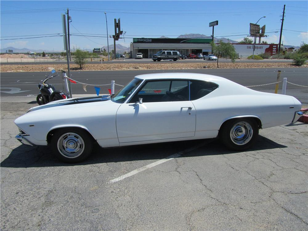 1969 CHEVROLET CHEVELLE MALIBU 2 DOOR COUPE - Side Profile - 157825