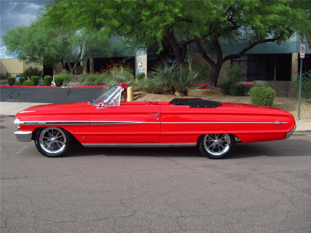 1964 FORD GALAXIE 500 CUSTOM CONVERTIBLE - Side Profile - 157837