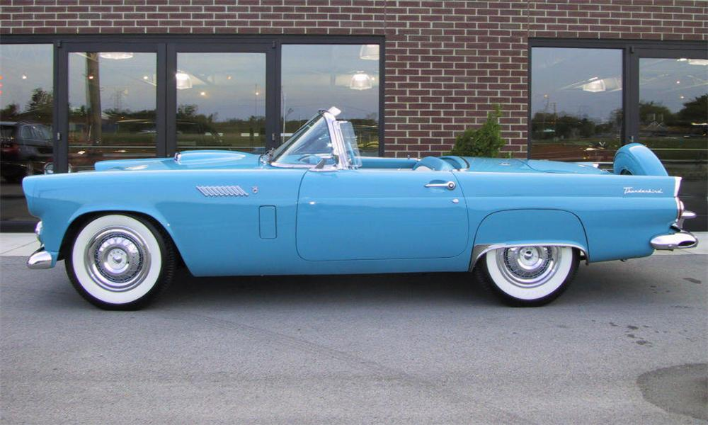1956 FORD THUNDERBIRD CONVERTIBLE - Side Profile - 15784
