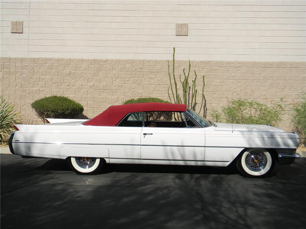 1964 CADILLAC DE VILLE CONVERTIBLE - Side Profile - 157846