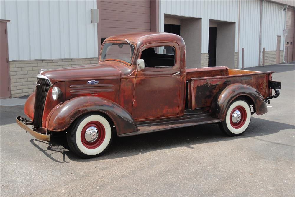 1937 CHEVROLET CUSTOM 1/2 TON PICK-UP - Side Profile - 157854
