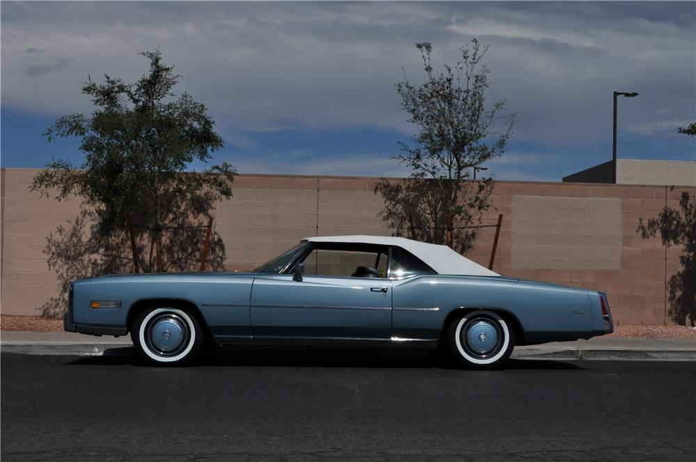 1976 CADILLAC ELDORADO CONVERTIBLE - Side Profile - 157857