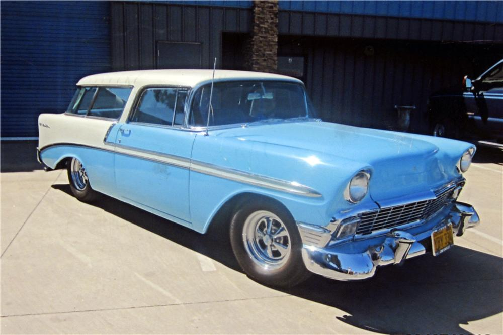 1956 CHEVROLET NOMAD CUSTOM STATION WAGON - Front 3/4 - 157862