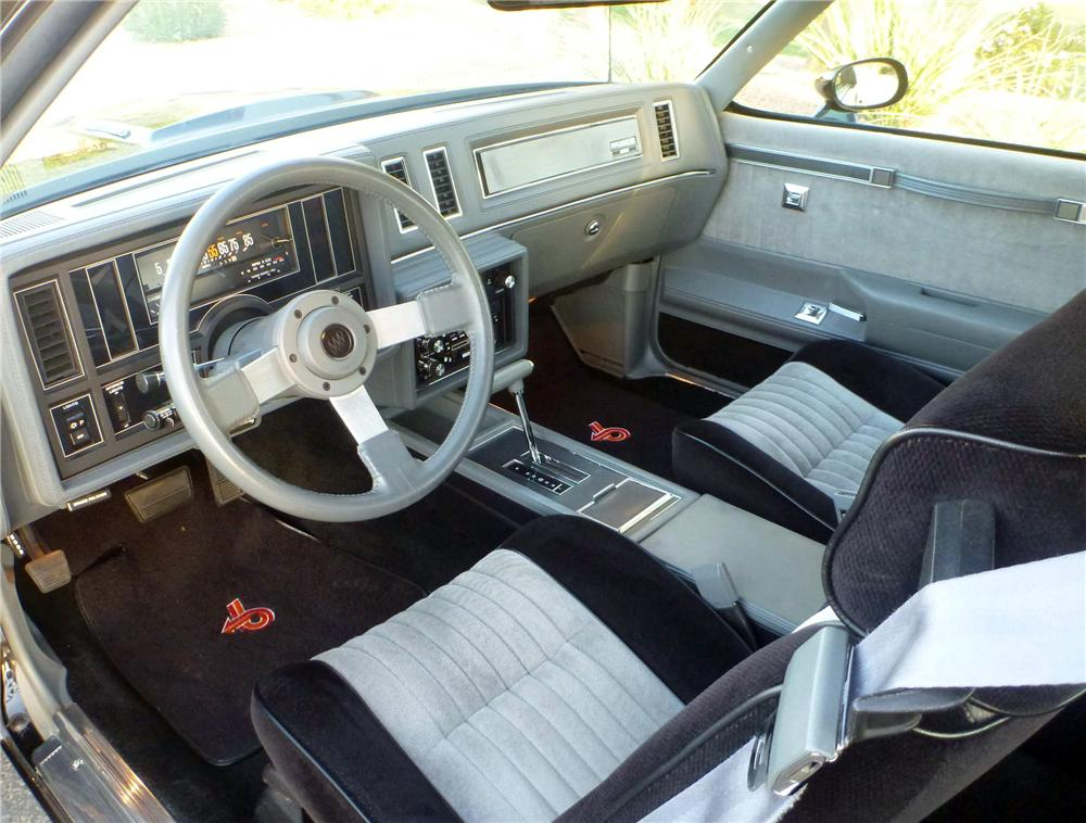 1987 BUICK GRAND NATIONAL 2 DOOR COUPE - Interior - 157867