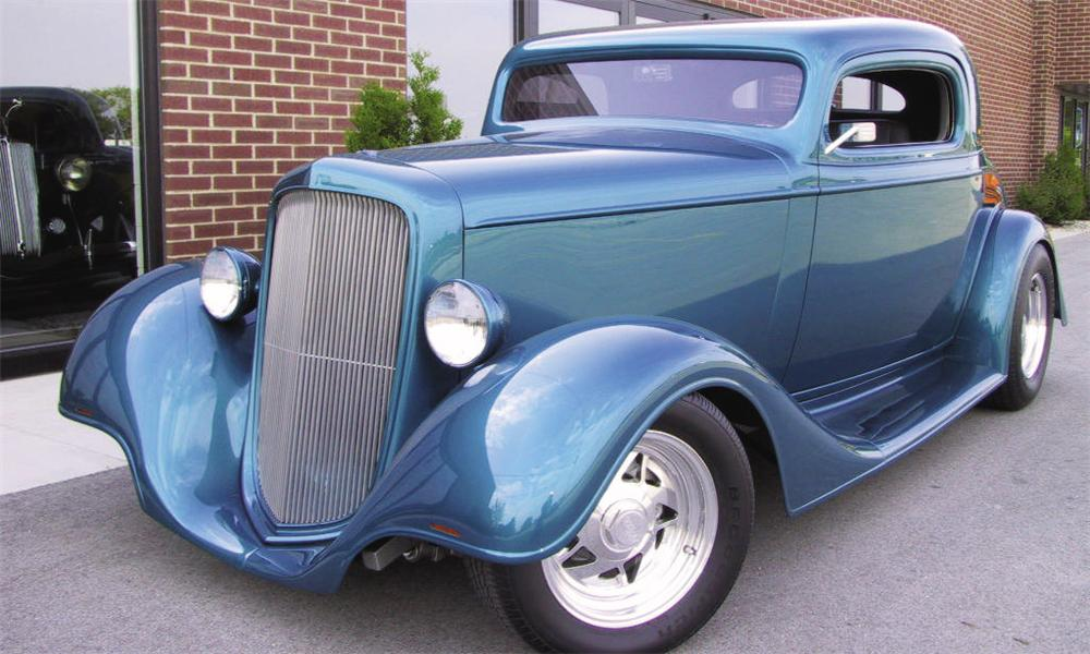 1935 CHEVROLET 3 WINDOW OUTLAW STREET ROD COUPE - Front 3/4 - 15787