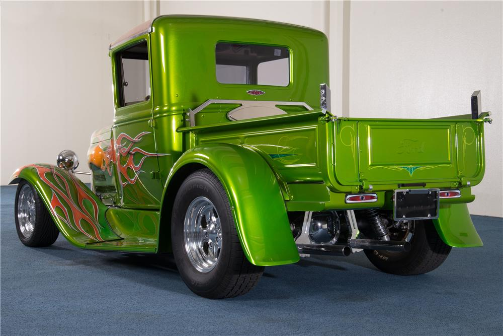 1930 FORD MODEL A CUSTOM PICKUP - Rear 3/4 - 157887