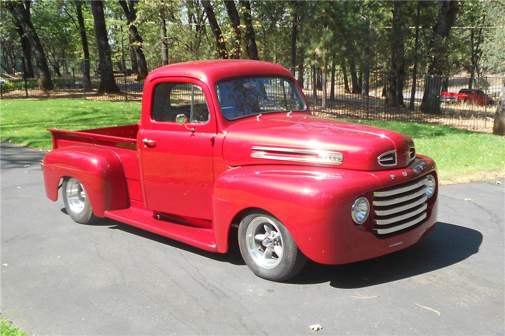 1950 FORD F-1 CUSTOM PICKUP - Front 3/4 - 157896