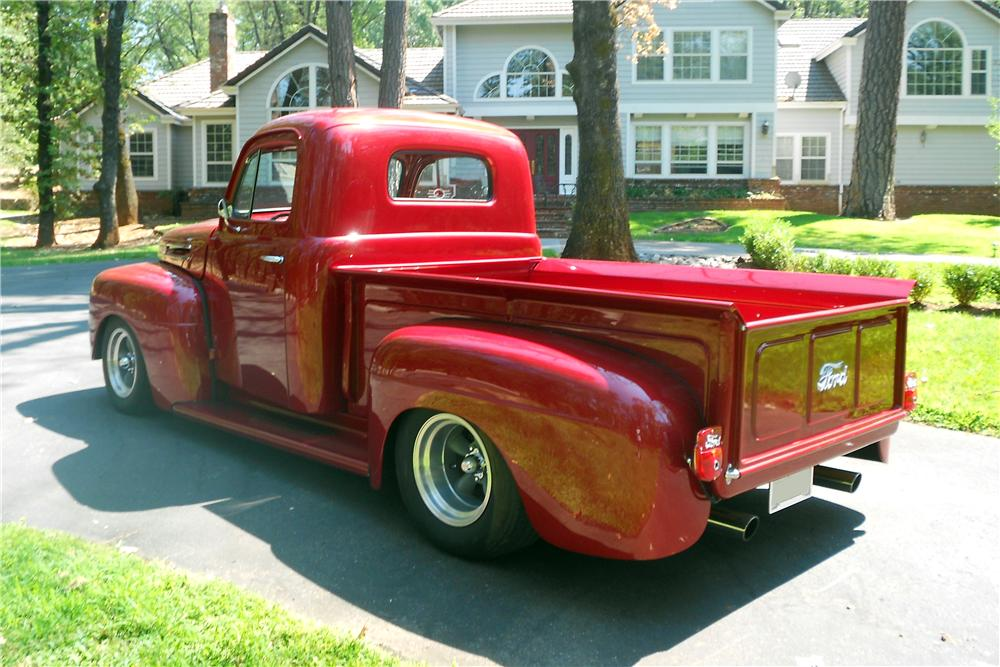 1950 FORD F-1 CUSTOM PICKUP - Rear 3/4 - 157896