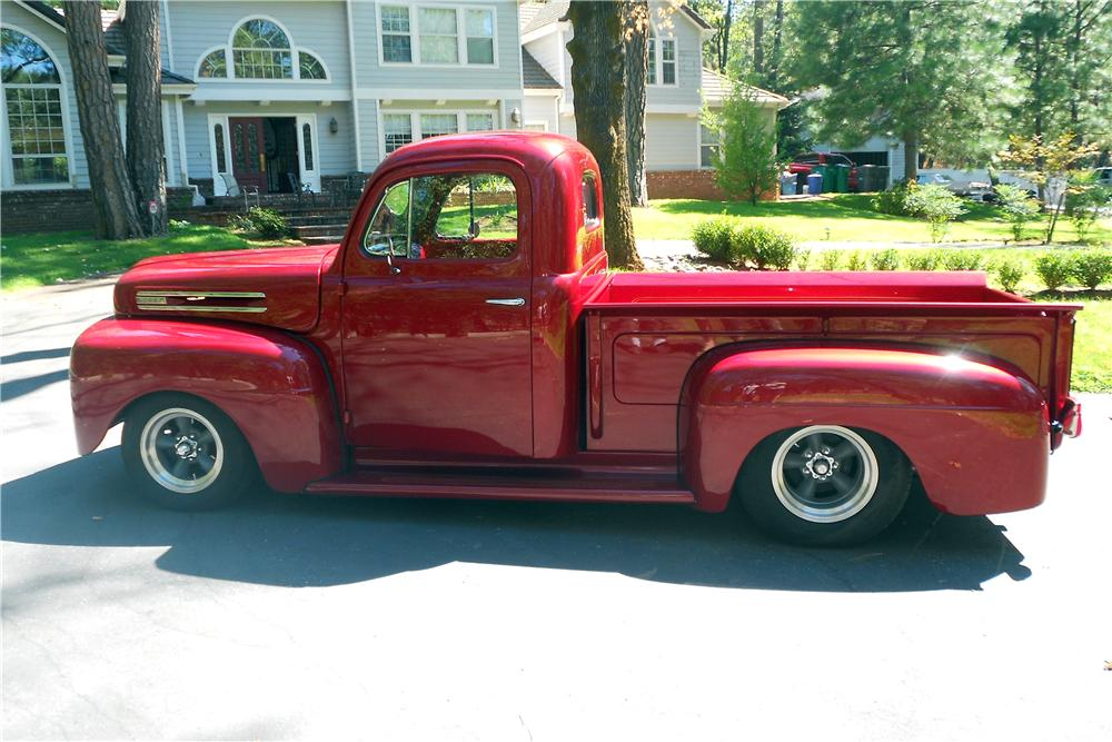 1950 FORD F-1 CUSTOM PICKUP - Side Profile - 157896