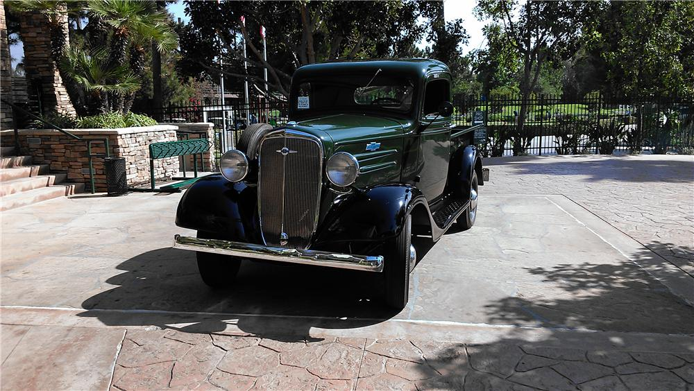 1936 CHEVROLET 1/2 TON PICKUP - Front 3/4 - 157899