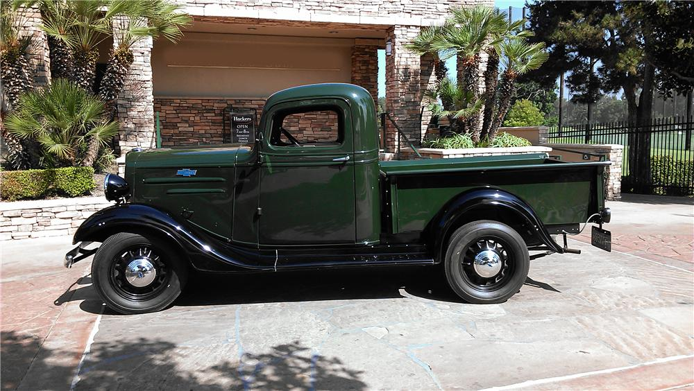 1936 CHEVROLET 1/2 TON PICKUP - Side Profile - 157899