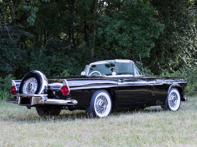 1956 FORD THUNDERBIRD CONVERTIBLE - Rear 3/4 - 157905