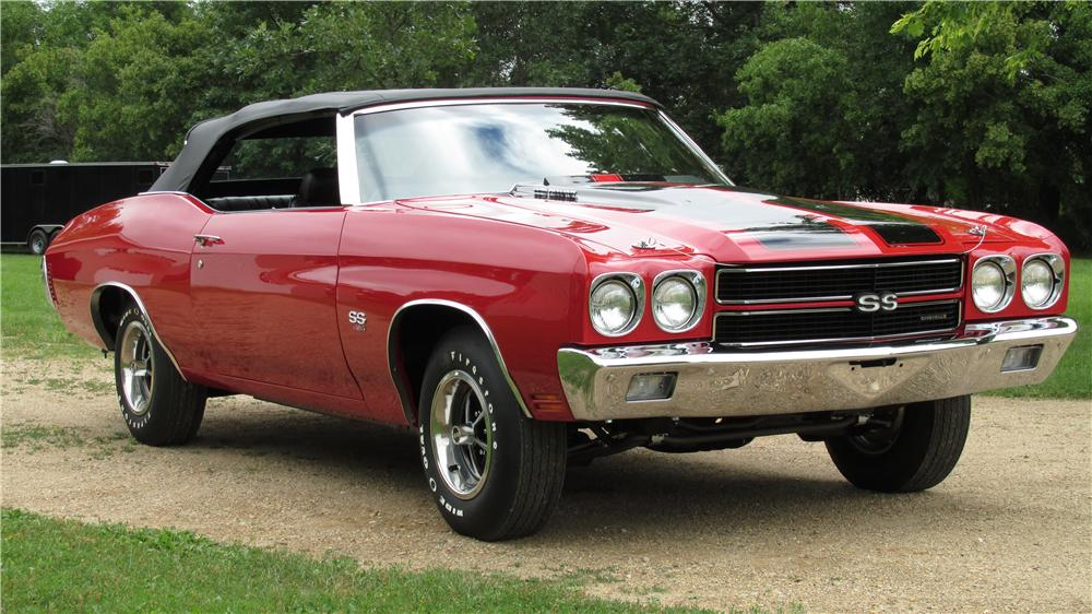 1970 CHEVROLET CHEVELLE SS LS6 CONVERTIBLE - Front 3/4 - 157906