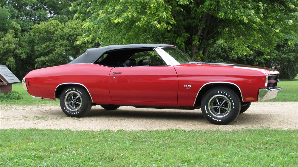 1970 CHEVROLET CHEVELLE SS LS6 CONVERTIBLE - Side Profile - 157906
