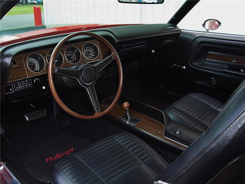 1970 DODGE CHALLENGER R/T 2 DOOR COUPE - Interior - 157914