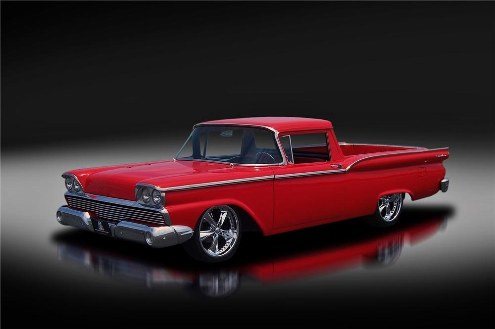 1959 FORD RANCHERO CUSTOM PICKUP - Front 3/4 - 157919