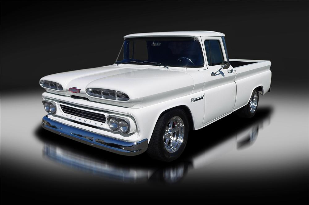 1960 CHEVROLET C-10 CUSTOM PICKUP - Front 3/4 - 157922