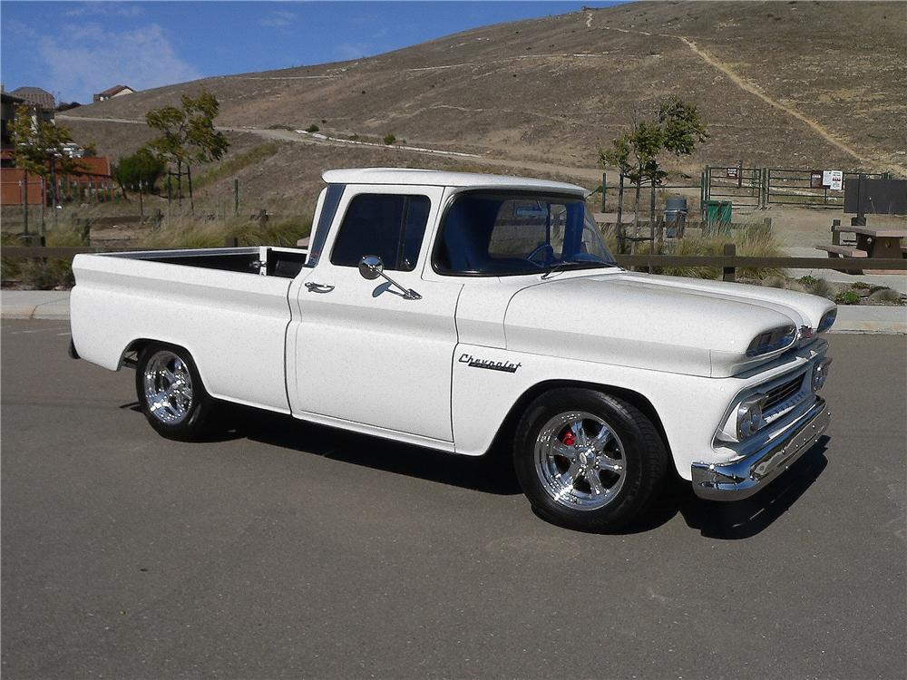 1960 CHEVROLET C-10 CUSTOM PICKUP - Side Profile - 157922
