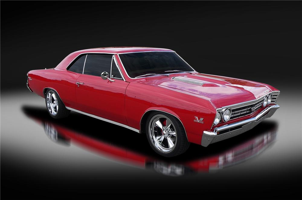 1967 CHEVROLET CHEVELLE SS CUSTOM 2 DOOR COUPE - Front 3/4 - 157924