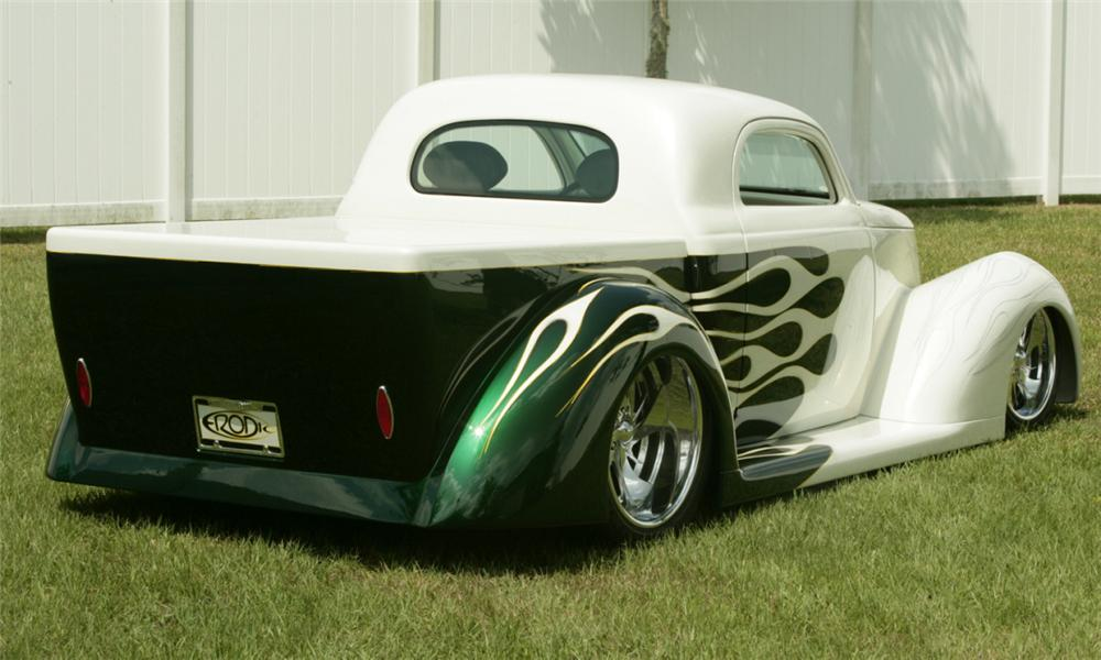 1937 FORD CUSTOM WILDROD PICKUP - Rear 3/4 - 15793