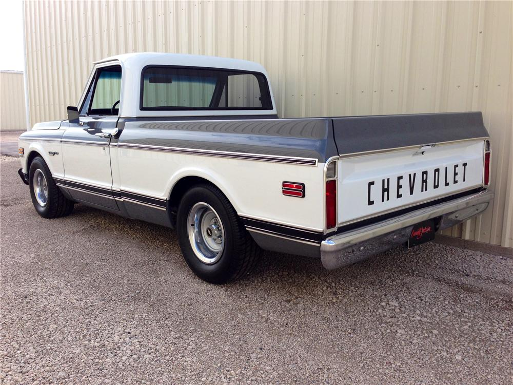 1972 CHEVROLET C-10 CUSTOM PICKUP - Rear 3/4 - 157956