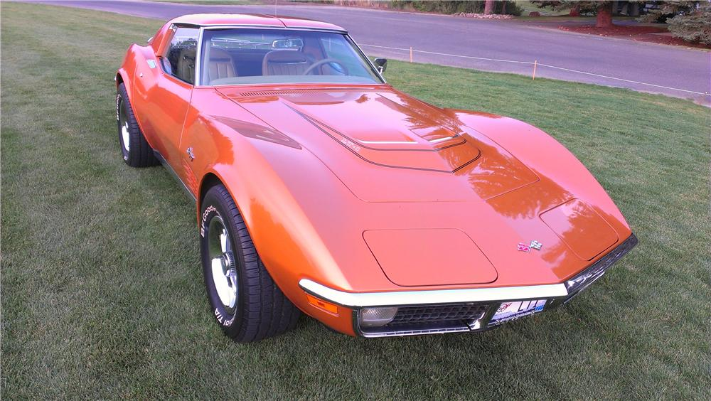 1971 CHEVROLET CORVETTE 2 DOOR COUPE - Front 3/4 - 157965